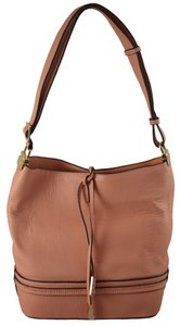 Ivanka Trump Bucket Hobo Gold Hardware Tie Closure Summer Adjustable Cross Body Bag