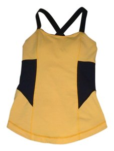 Lululemon Top Yellow gold and navy