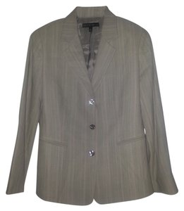 Lafayette 148 New York Herringbone Crepe 3 Button tan Blazer
