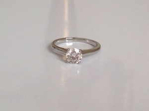 Cartier Cartier Diamond Platinum Round Solitaire Ring 0.36 Ctw Certificate Box 48