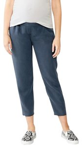 Gap Maternity NWT GAP Maternity Tencel Soft Pants Navy Base Blue Crop Pants size XL NEW