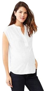 Gap Maternity NWT GAP Maternity Split Neck Tank Sleeveless Optic White 100% Cotton size Medium NEW