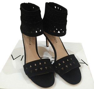 Via Spiga Black Suede Pumps