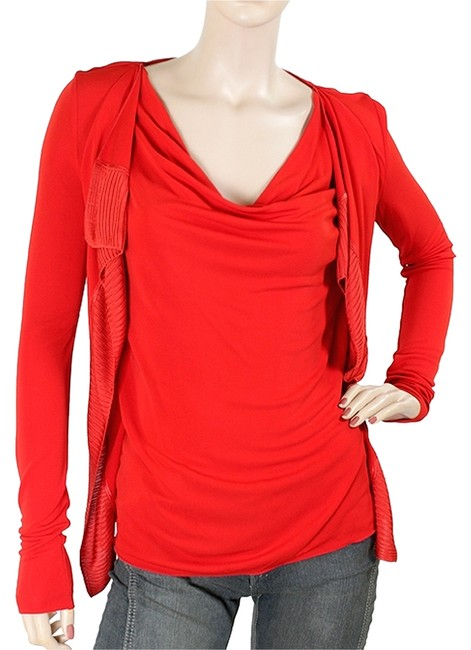 Preload https://item3.tradesy.com/images/jean-paul-gaultier-red-rayon-cowl-neck-cardigan-size-4-s-1105757-0-0.jpg?width=400&height=650