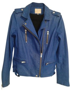 IRO Leather Cobalt Anabela Blue Leather Jacket