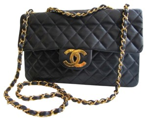 Chanel Vintage Leather Classic Maxi Cross Body Bag
