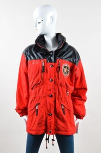 Bogner Black Nylon Legends Of The White Buffalo Ski Coat Red Jacket