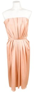 Other Edition Soir Yves Saint Laurent Blush Silk Pleated Dress