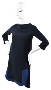 MARTIN GRANT short dress Black Navy Trim on Tradesy