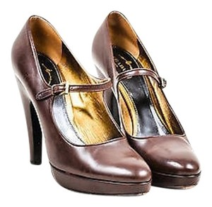 Prada Leather Ankle Brown Pumps