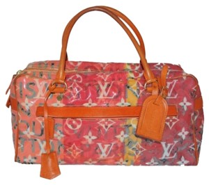 Louis Vuitton Pulp Weekender Satchel in Orange Pink Multi