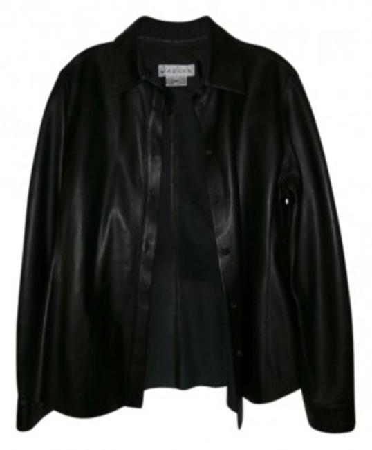 Preload https://item1.tradesy.com/images/jaeger-black-uk-leather-shirt-button-down-top-size-14-l-11060-0-0.jpg?width=400&height=650