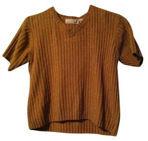 Claudia Barnes Chenille Short Sleeve Sweater