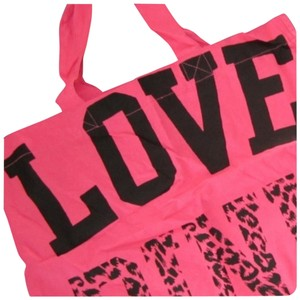 Victoria's Secret Tote in Hot Pink/Black