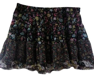 Forever 21 Ruffle Tiered Mini Skirt Floral