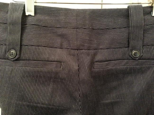 Forever 21 Business Wear Boot Cut Pants Pin-Striped Blue