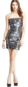 Aqua Silver Sequin Mini Dress
