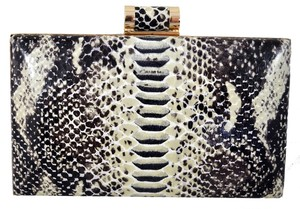 Ivanka Trump Gold Hardware Neutral Snake Clutch