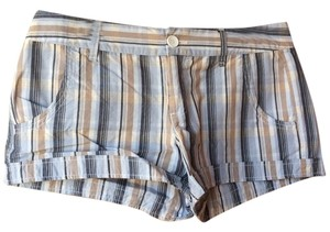 Maurices Shorts Blue, Tan, White