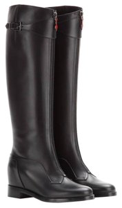 Christian Louboutin Foresta Leather Knee Riding Black Boots