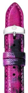 Michele MS16AA430507 Michele 16mm Twilight Purple Strap Genuine Leather Silver Buckle