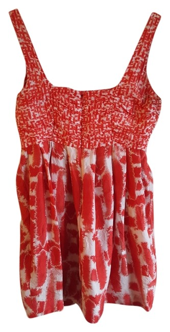 Item - Red/White Print Colorful Short Night Out Dress Size 6 (S)