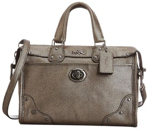 Coach Rhyder Small Satchel in Brass