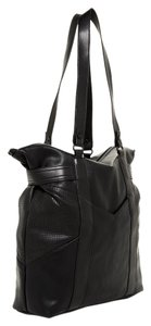 French Connection Tote Gold Hobo Zipper Satchel in black