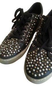 Ash Soda Studded Studs Leather Sneakers black Athletic
