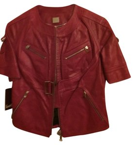 Kooba Magenta Leather Jacket