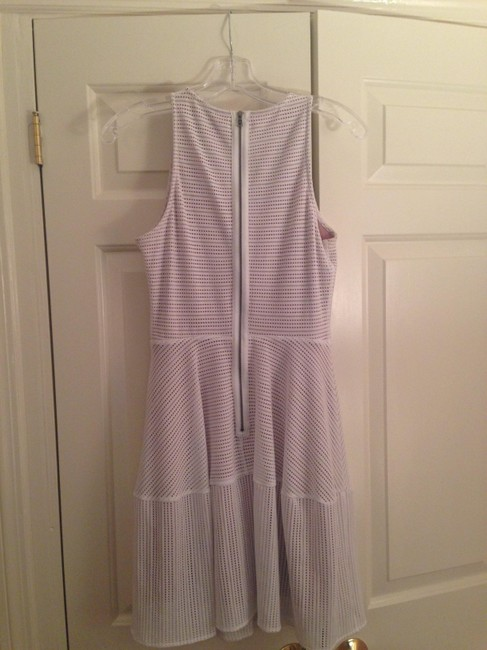 BCBGMAXAZRIA short dress White Eyelet Work A-line Sleeveless on Tradesy