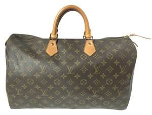 Louis Vuitton Speedy Speedy 40 Monogram Satchel in Brown