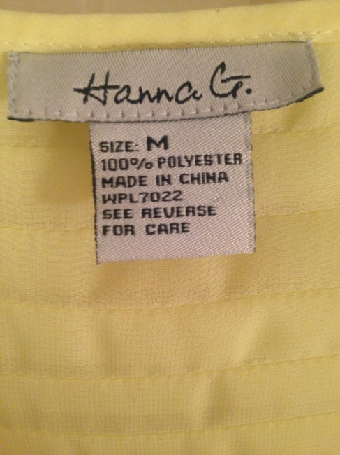 Hanna G. Racerback Party Summer Casual Work Ombre Top Yellow/Green Ombre