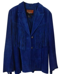 Cripple Creek Blue Leather Jacket