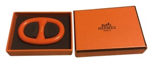 Hermès Hermes Orange Chaine d'Ancre Scarf Ring