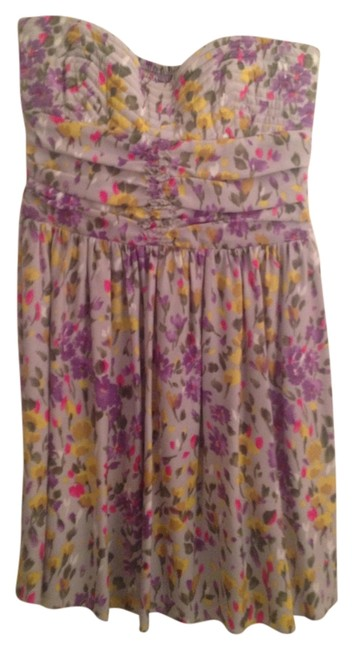 Parker Strapless Summer Purple Yellow Dress
