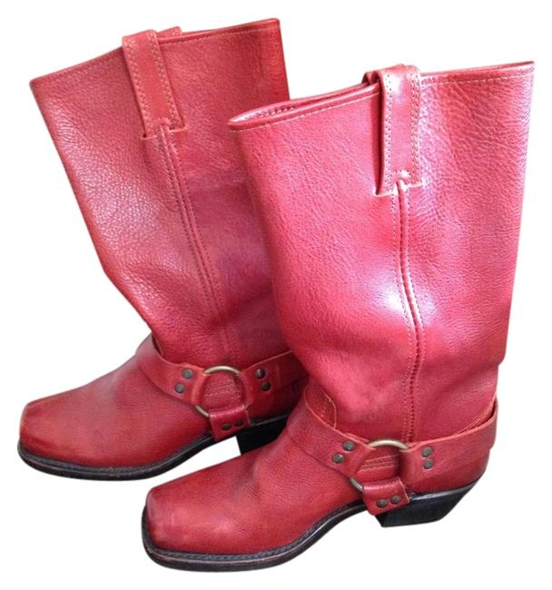 Item - Cherry Red Boots/Booties Size US 7 Regular (M, B)