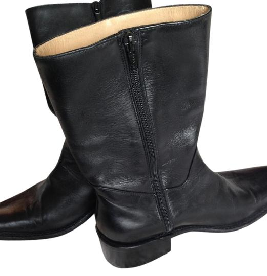 Frye Ankle Leather Black Boots