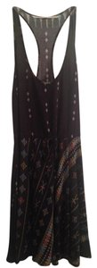 Twelfth St. by Cynthia Vincent short dress Black/Grey Racerback Tribal Cinched on Tradesy