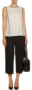 Halston Sleeveless Colorblock Top Ivory & Black