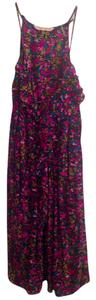 Rebecca Taylor short dress Black/Floral Cocktail Floral Pockets Silk on Tradesy