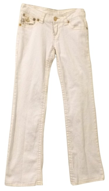 Item - White with Yellow and Gold Boot Cut Jeans Size 29 (6, M)