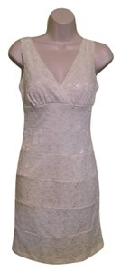 Valerie Bertinelli Lace V-neck Dress