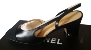 Chanel Slingbacks Black Pumps