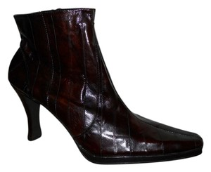 Moda Spana Leather Eel Skin dark reddish brown Boots