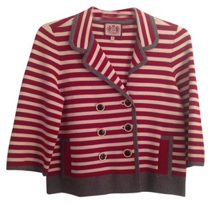 Juicy Couture Striped Red/White Blazer