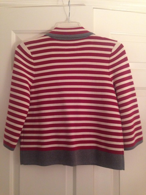 Juicy Couture Striped Jacket Cropped Red/White Blazer