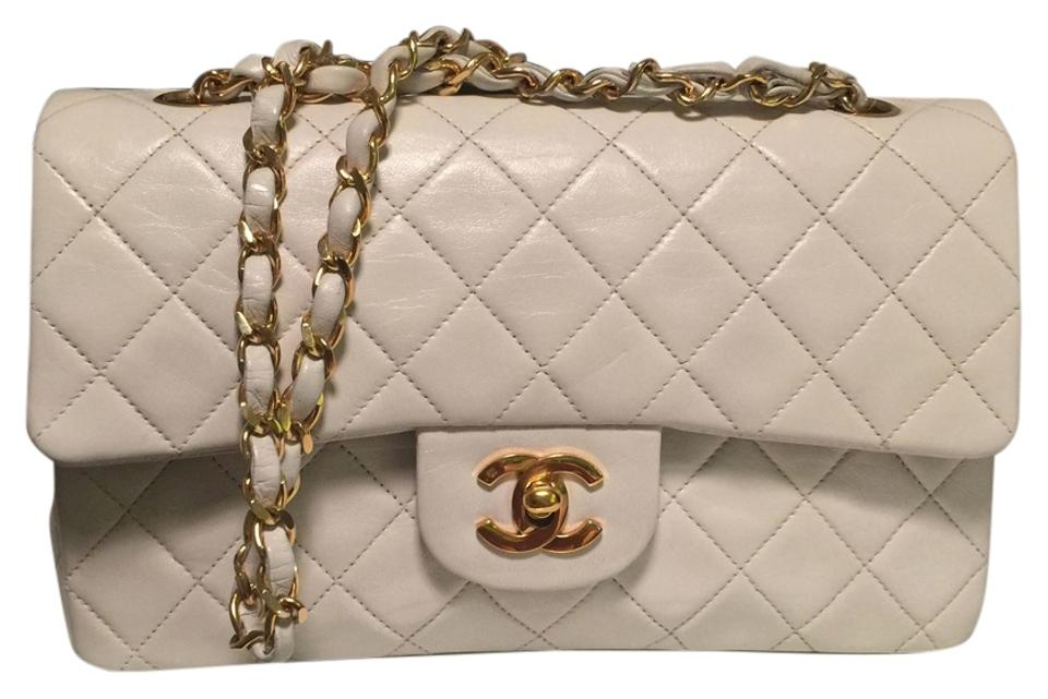 85659518810a26 Chanel 2.55 Reissue Double Flap Small Classic White Lambskin Cross Body Bag