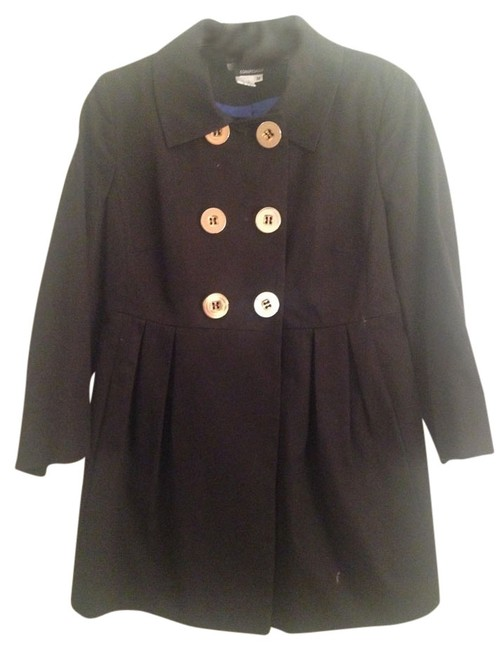 Conspicuous Pea Jacket Gold Buttons Pea Coat