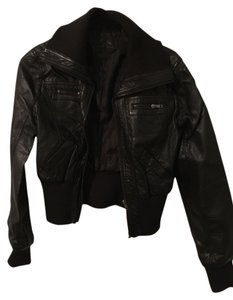 JouJou Bomber Faux Leather Motorcycle Jacket